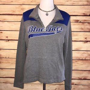 🆕 VS PINK MLB Blue Jays 1/4 Zip Pullover